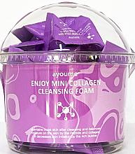 Profumi e cosmetici Schiuma detergente al collagene - Ayoume Enjoy Mini Collagen Cleansing Foam