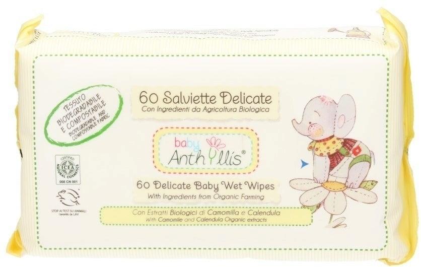 Salviette umidificate per neonati 60 pz. - Anthyllis Cleansing Wipes