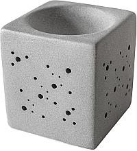 Profumi e cosmetici Lampada per aromi quadrata, grigia - Flagolie By Paese Cube Fireplace Grey