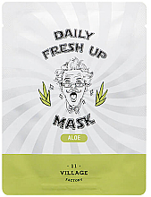 Profumi e cosmetici Maschera in tessuto con estratto di aloe - Village 11 Factory Daily Fresh Up Mask Aloe