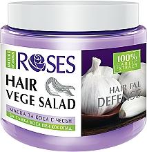 Profumi e cosmetici Maschera rigenerante anticaduta per capelli fini - Nature of Agiva Roses Hairfall Defense Hair Mask