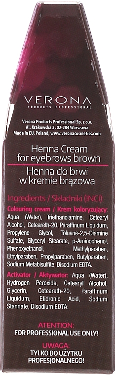 L'henné in crema per sopracciglia - Henna Proseries Cream — foto N2