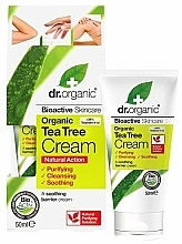 "Profumi e cosmetici Crema corpo lenitiva ""Tea tree"" - Dr. Organic Bioactive Skincare Tea Tree Cream"