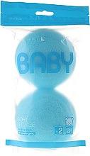 Profumi e cosmetici Set spugnette, 2pz, blu - Suavipiel Baby Soft Sponge