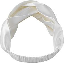 "Profumi e cosmetici Fascia capelli, in seta naturale, bianca, ""Twist"" - Makeup Hairband Twist Milk"