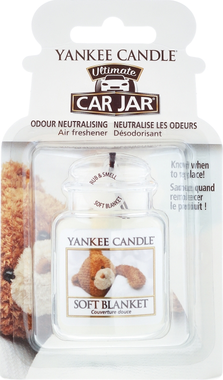 Profumo per auto - Yankee Candle Car Jar Ultimate Soft Blanket