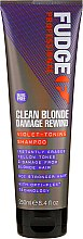 Profumi e cosmetici Shampoo antigiallo - Fudge Clean Blonde Damage Rewind Shampoo
