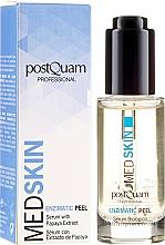 Profumi e cosmetici Siero-peeling viso, enzimatico con estratto di papaia - PostQuam Med Skin Enzimatic Peel Serum With Papaya Extract