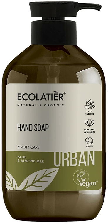 Sapone liquido all'aloe e latte di mandorle - Ecolatier Urban Liquid Soap