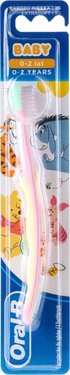Spazzolino da denti, rosa-giallo - Oral-B Baby