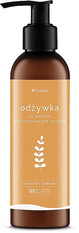 """Condizionante per capelli chiari """"Camomilla e Girasole"""" - Fitomed Chamomile And Sunflower Herbal Conditioner Blonde"""