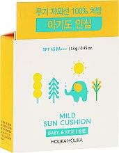 Profumi e cosmetici Protezione solare - Holika Holika Mild Sun Cushion SPF45