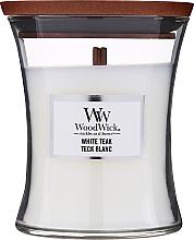 Profumi e cosmetici Candela profumata in bicchiere - WoodWick Hourglass Candle White Teak