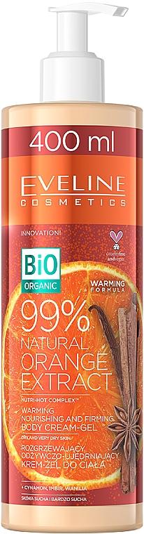 Crema-gel corpo riscaldante, nutriente e rassodante con estratto di arancia - Eveline Cosmetics Bio Organic 99% Natural Orange Extract