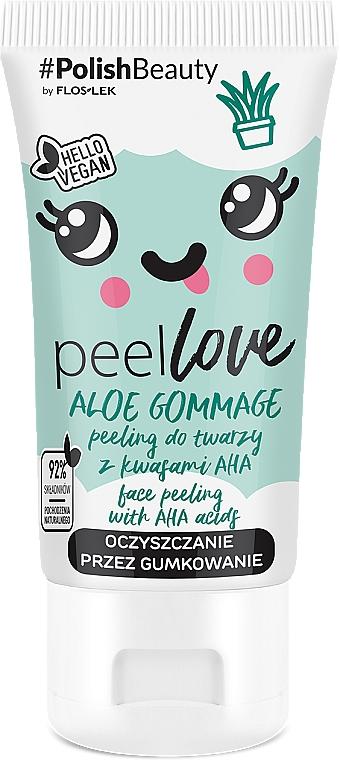 Peeling viso con acidi AHA - Floslek peelLOVE Aloe Gommage Face Peeling With AHA Acids