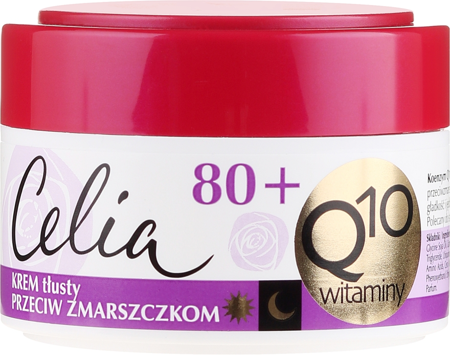 Crema antirughe - Celia Q10 Face Cream 80+