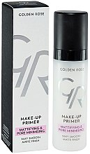 Profumi e cosmetici Primer viso - Golden Rose Make-Up Primer Mattifying & Pore Minimising