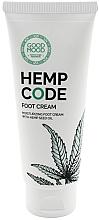 Profumi e cosmetici Crema piedi idratante all'olio di canapa per pelli secche e normali - Good Mood Hemp Code Foot Cream