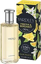 Profumi e cosmetici Yardley Freesia & Bergamot - Eau de toilette