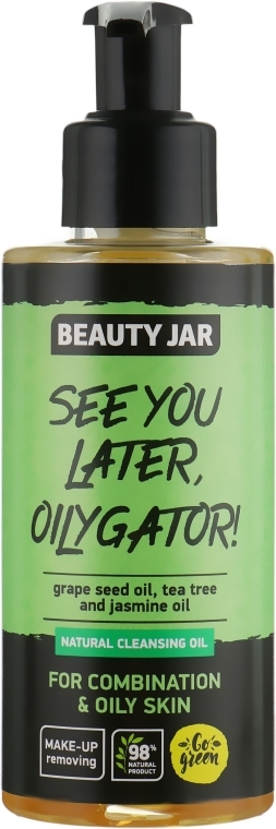 """Olio detergente per pelli miste e grasse """"See You Later, Oilygator!"""" - Beauty Jar Natural Cleansing Oil"""