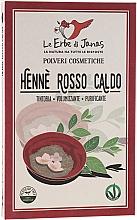 """Profumi e cosmetici Polvere per capelli """"Rosso Caldo"""" - Le Erbe di Janas Red Henna Hot Shades"""