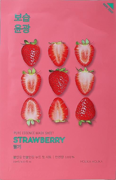"Maschera in tessuto ""Fragola"" - Holika Holika Pure Essence Mask Strawberry"