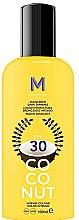 Profumi e cosmetici Crema solare per abbronzatura scura - Mediterraneo Sun Coconut Sunscreen Dark Tanning SPF30