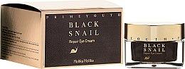 Profumi e cosmetici Crema contorno occhi rigenerante alla bava di lumaca - Holika Holika Prime Youth Black Snail Repair Eye Cream