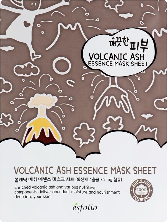 Maschera in tessuto con cenere vulcanica - Esfolio Pure Skin Volcanic Ash Essence Mask Sheet
