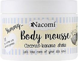 """Profumi e cosmetici Mousse corpo """"Frullato di banana e cocco """" - Nacomi Body Mousse Coconut-Banana Shake"""