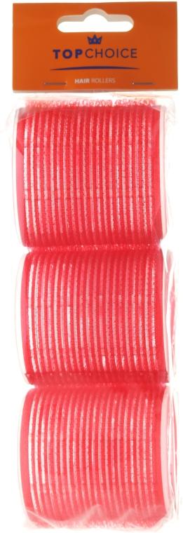 """Bigodini per capelli """"Velcro"""" diametro 60mm, 3pz, 0607, rosso - Top Choice"""