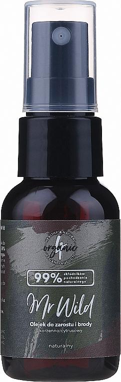 """Olio per capelli e barba """"Agrumi piccanti"""" - 4Organic Mr Wild Hair And Beard Oil — foto N1"""