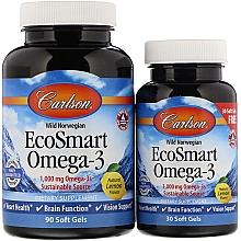 Profumi e cosmetici Set Omega-3 - Carlson Labs EcoSmart Omega-3 (gel/90 + gel/30ml)
