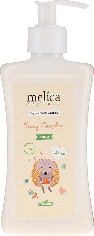 Sapone liquido per bambini - Melica Organic Funny Hedgehog Liquid Soap