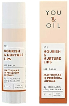 """Profumi e cosmetici Balsamo labbra """"Nutrizione e cura"""" - You & Oil Nourish & Nurture Lip Balm"""