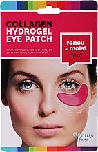 Profumi e cosmetici Patch occhi con collagene e vino rosso - Beauty Face Collagen Hydrogel Eye Mask