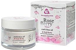 Profumi e cosmetici Crema viso con olio di rosa e bacche di goji da notte - Bulgarian Rose Rose Berry Nature Night Cream