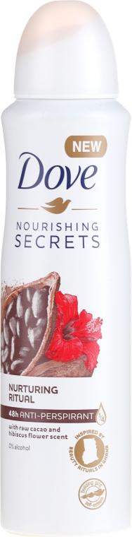 Antitraspirante spray - Dove Nourishing Secrets Cacao & Hibiscus Dry Spray Antiperspirant