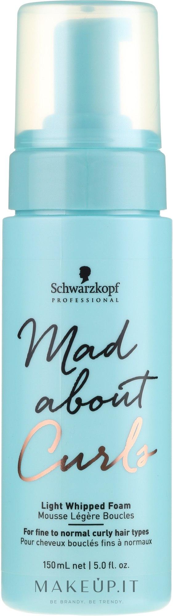 Schiuma per lo styling dei capelli - Schwarzkopf Professional Mad About Curls Light Whipped Foam — foto 150 ml