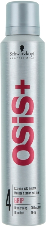 Mousse capelli, fissazione super forte - Schwarzkopf Professional Osis style Grip Super Hold Haarmousse