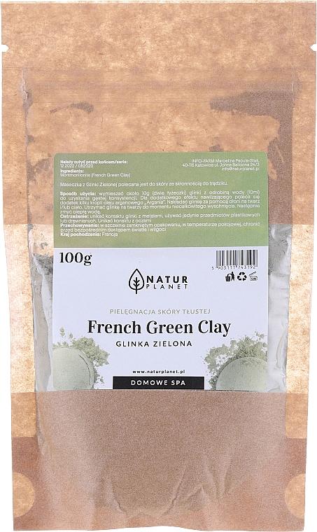 Maschera viso - Natur Planet French Green Clay