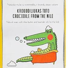 Profumi e cosmetici Sapone al burro di karitè e olio di lavanda per bambini - Uoga Uoga Crocodile From The Nile Natural Soap