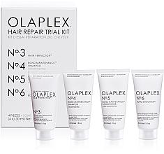 Profumi e cosmetici Kit per il ripristino dei capelli - Olaplex Hair Repair Trial Kit (shm/30ml + con/30ml + elixir/30ml + h/cr/30ml)