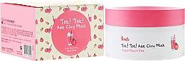 Profumi e cosmetici Maschera di argilla rosa con estratto di pesca - Prreti Tok!Tok!