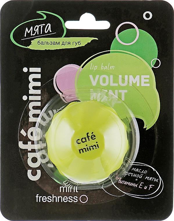 "Balsamo labbra ""Menta"" - Cafe Mimi Lip Balm Volume Mint"