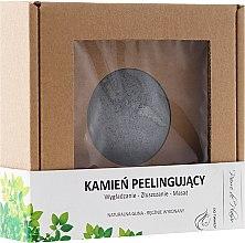 Profumi e cosmetici Pietra naturale per peeling viso, grigio - Pierre de Plaisir Natural Scrubbing Stone Face
