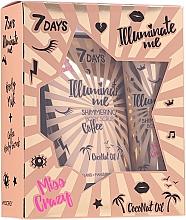 Profumi e cosmetici Set - 7 Days Illuminate Me Miss Crazy №1 (b/milk/150ml + b/scrub/200g)