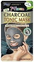 """Profumi e cosmetici Maschera in tessuto """"Carbone"""" - 7th Heaven Charcoal Tonic Sheet Mask"""