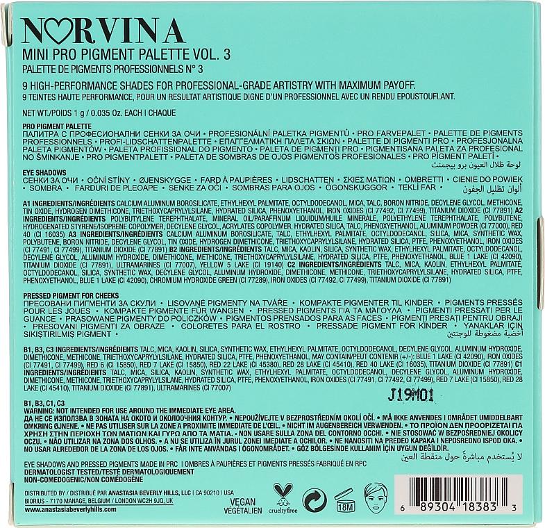 Palette ombretti - Anastasia Beverly Hills Norvina Pro Pigment Mini №3 — foto N4