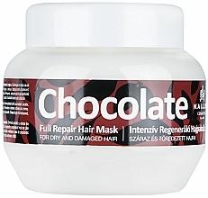Profumi e cosmetici Maschera per capelli secchi e danneggiati - Kallos Cosmetics Chocolate Mask